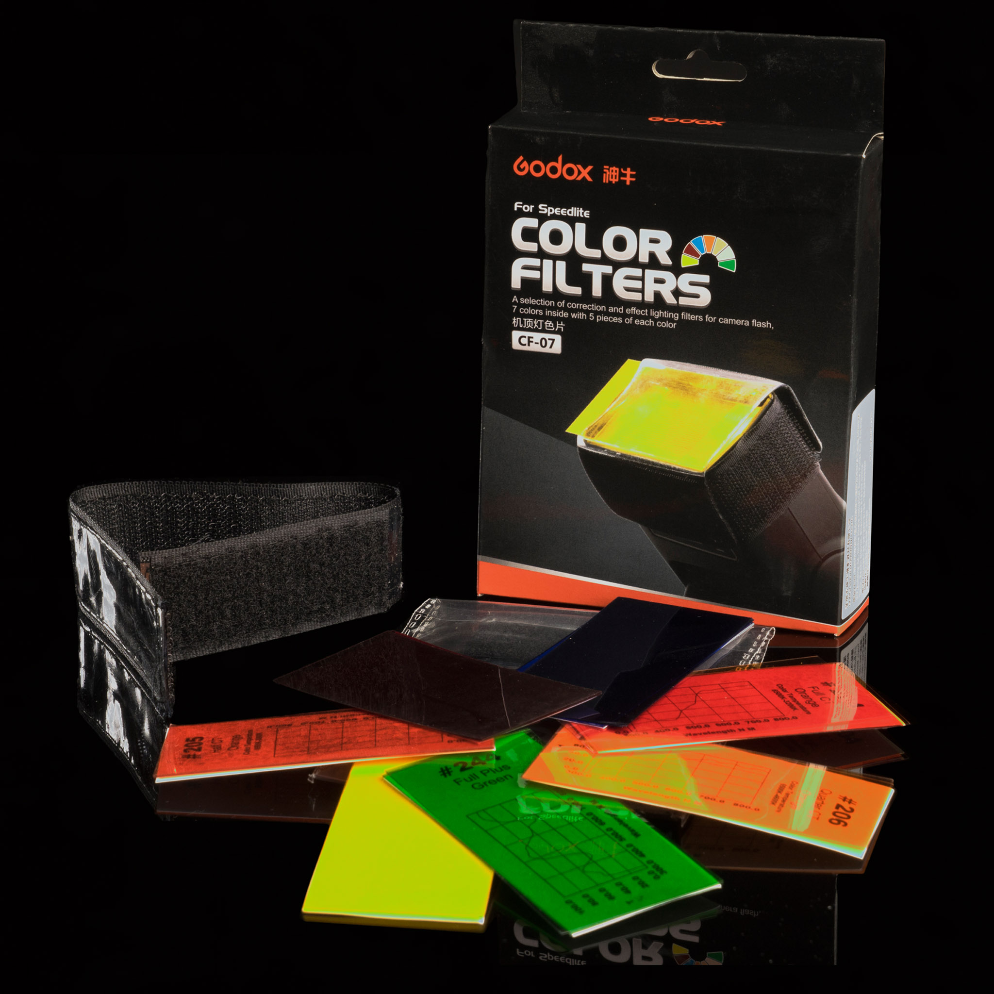 Kit de filtros de colores para flash