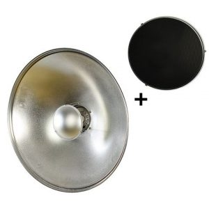 KIT Beauty Dish Silver 55 cm con Grid